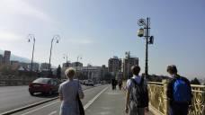 City walks in Skopje on project week.
